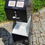 Brandované stojany Mercedes Benz ukázka celého stojanu informační tabule-novirusactive